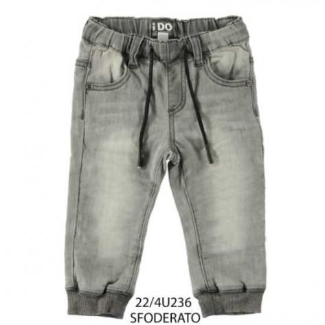 Pantalón denim gomas primavera gris
