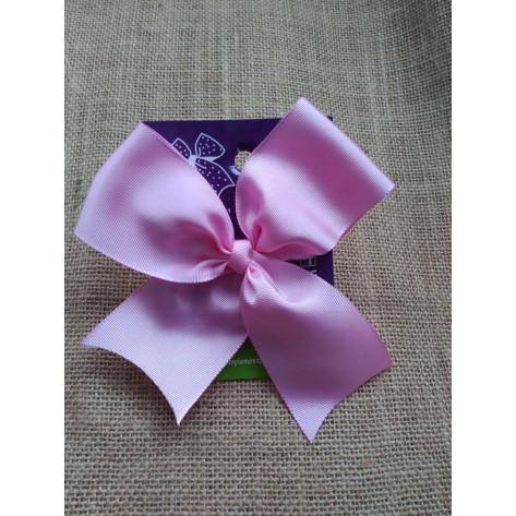 Lazo clásico rosa bebé con pinza
