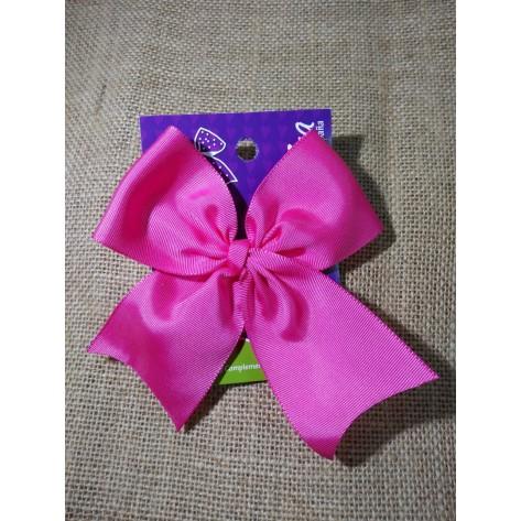Lazo clásico fresa (rosa fluor) con pinza