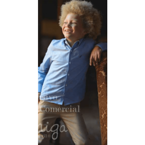 Camisa niño liso Azafata manga larga
