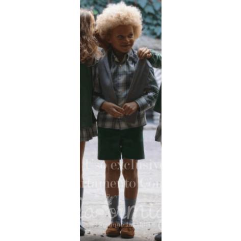 Pantalón niño sarga corto verde