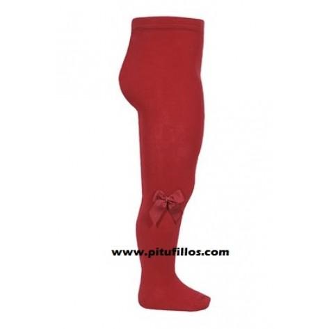 Leotardo rojo con lazo lateral