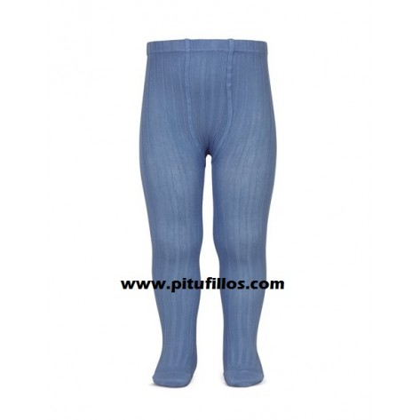 Leotardo canalé color 449 Azul Francia