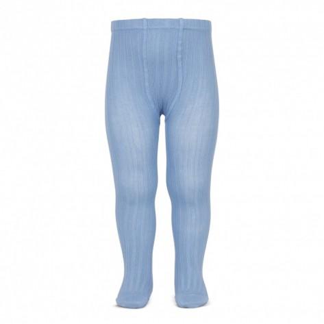 Leotardo canalé color 446 azulado
