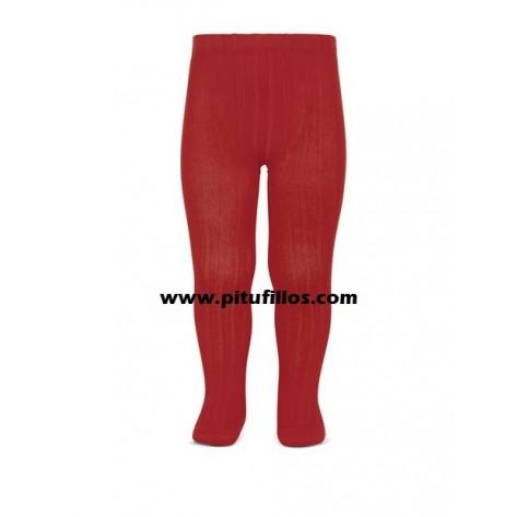Leotardo canalé color 550 rojo