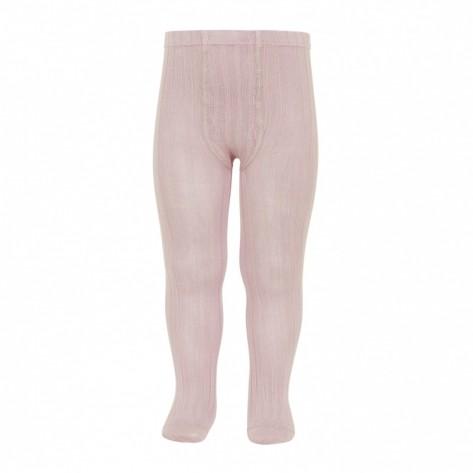 Leotardo canalé color 544 rosa empolvado