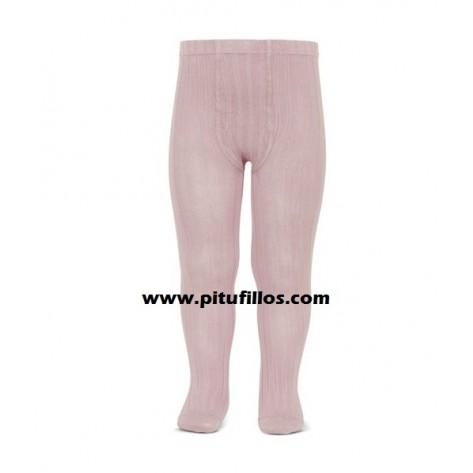 Leotardo canalé color 526 rosa palo