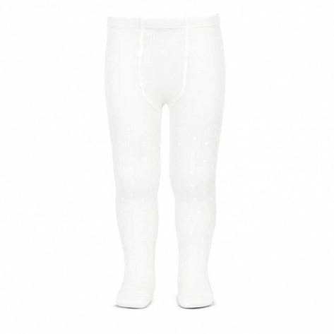 Leotardos perle calados blanco 200
