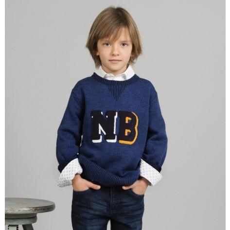 Jersey niño azul oscuro NB