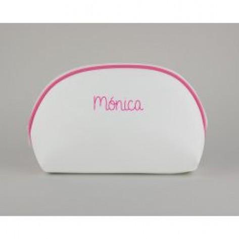 Neceser polipiel rosa personalizado