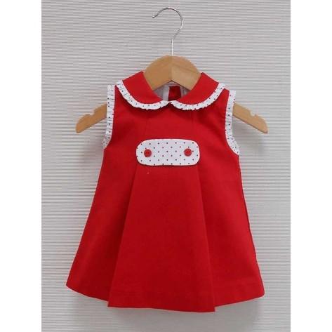 """Vestido pique """"Nuria"""" rojo"""