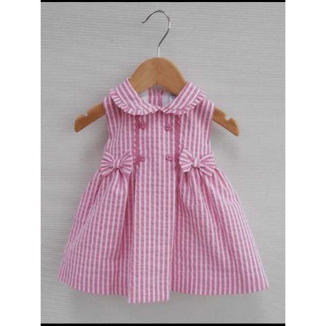 """Vestido rayas rosa """"Adriana"""""""