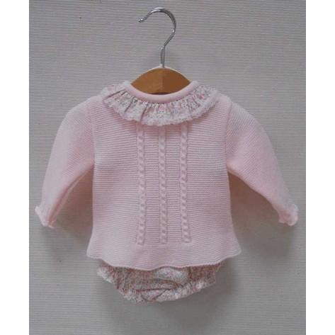 Conjunto braguita + suéter noemi rosa