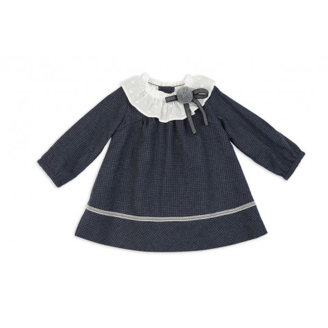 Vestido microvichy azul marino