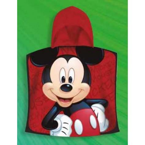 Poncho baño Mickey rojo