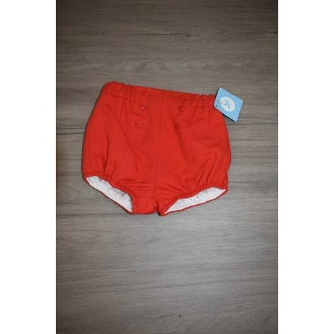 Pantalón pique bombacho rojo