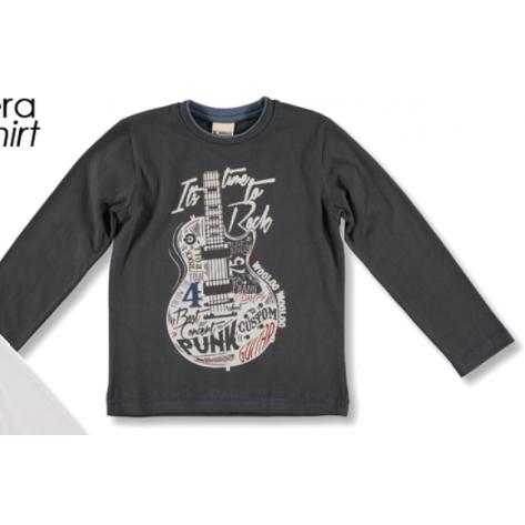 Camiseta manga larga gris guitarra