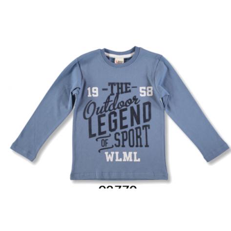 Camiseta manga larga azul outdoor