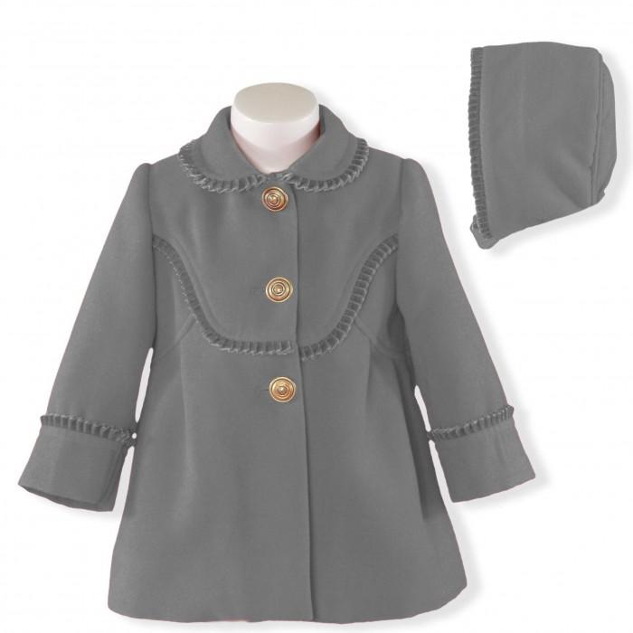 2de205340 Abrigo bebé paño gris con capota - Miranda Textil