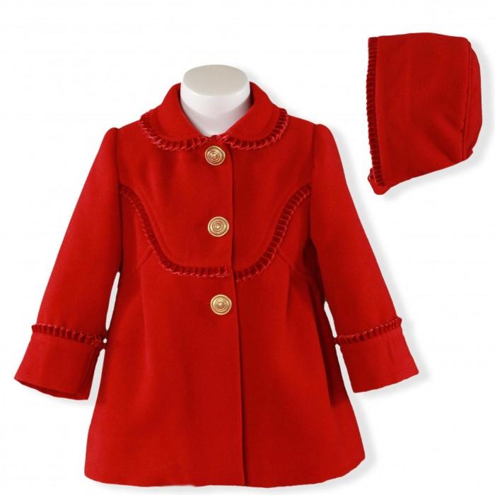 7d6805e7d Abrigo bebé paño rojo con capota - Miranda Textil