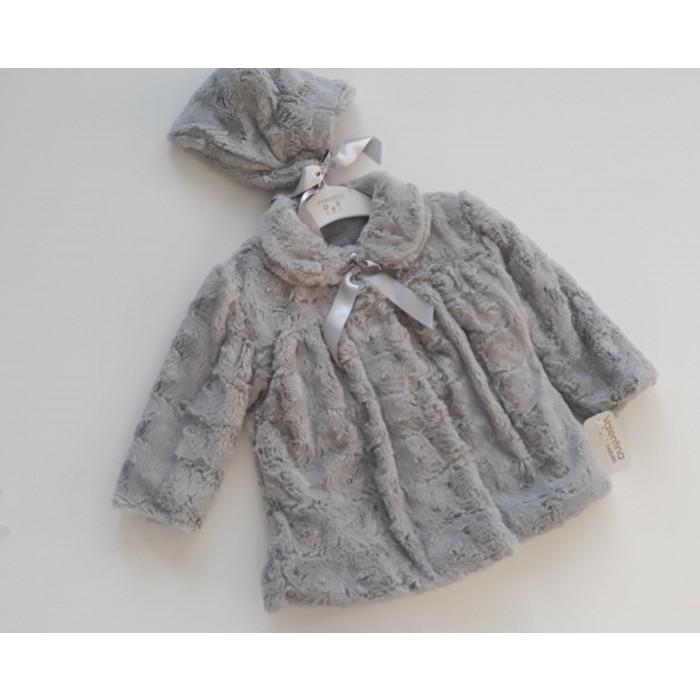 Abrigo pelo + capota gris - Valentina Bebés c19450cd90e
