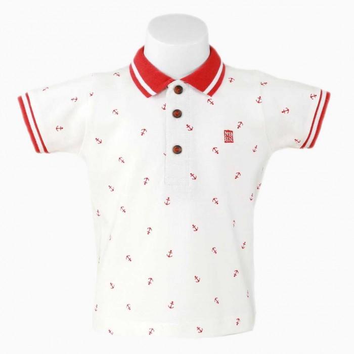 Polo bebé blanco anclas rojas - Nelblu 571e6b216b91b