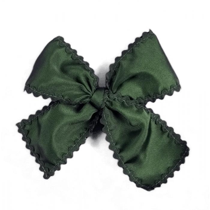 Lazo cl sico ondulina verde botella al tono con pinza for Ondulina verde