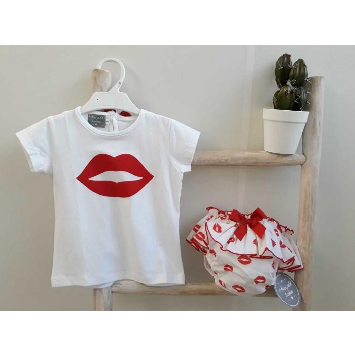 c6271c500 Conjunto braguita + camiseta labios - Mon Petit Bonbon