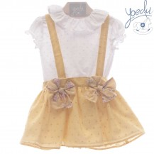 Conjunto pichi falda + blusa padua caramelo