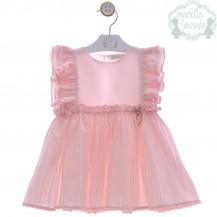Vestido canicas rosa empolvado