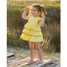 Vestido yellow amarillo sin mangas