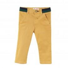 Pantalón largo bebé camel cintura verde