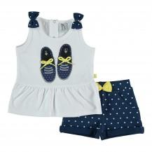 Conjunto liguria pantalón corto + camiseta zapatillas