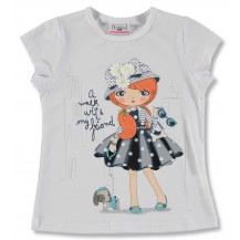 Camiseta manga corta blanca muñeca vestido