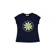 Camiseta marino margarita lentejuelas