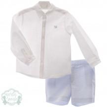Conjunto bermuda y camisa hera celeste