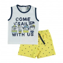 Conjunto croacia pantalón corto calaveras + camiseta