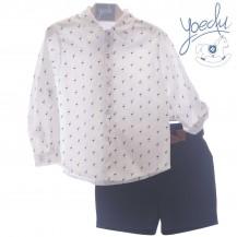 Conjunto bermuda + camisa stylo marino