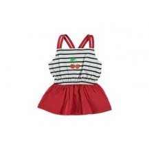 Vestido bebé cerezas rojo
