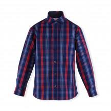 Camisa cuadros azul y fucsia
