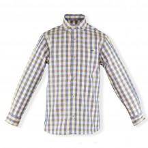 Camisa niño cuadros amarillo y azul