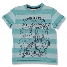 "Camiseta m/c verde rayas"" southport"""