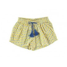 Short amarillo y azul