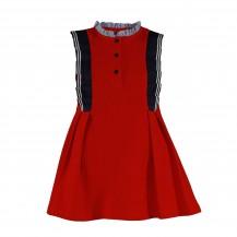 Vestido rojo tejido polo vuelo