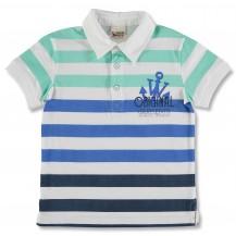 """Polo  m/c """"southport"""" rayas verde, blanco y azulón"""
