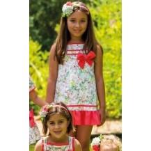 Vestido St. Tropez flores coral