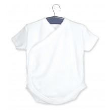 Body cruzado manga corta blanco