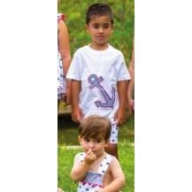Conjunto niño marine bermuda y camiseta