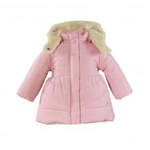 Abrigo acolchado vuelo rosa