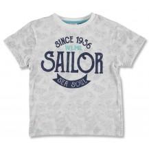 Camiseta manga corta gris sailor marino